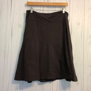 Athleta Brown Layered Skirt with Back Pocket L